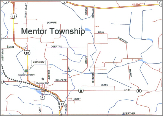 map of the mentor township
