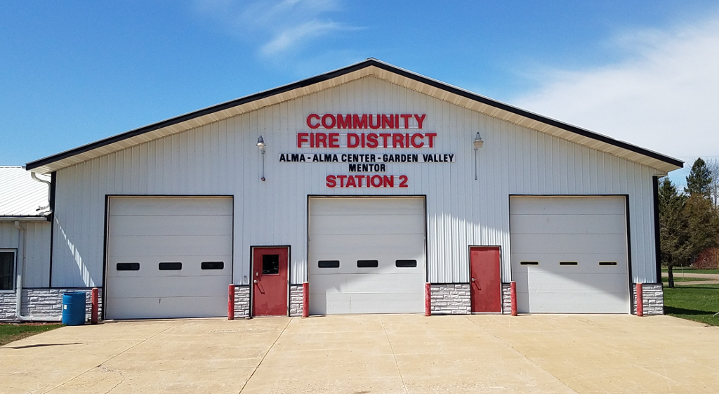 new community fire district sign